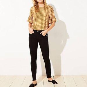 LOFT NWT pintucked skinny jeans